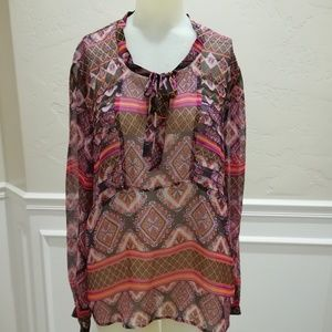 Twelfth street by Cynthia Vincent print blouse